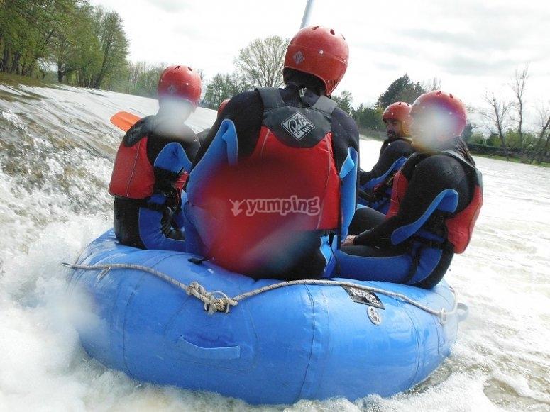 Descendiendo el Tormes en el raft