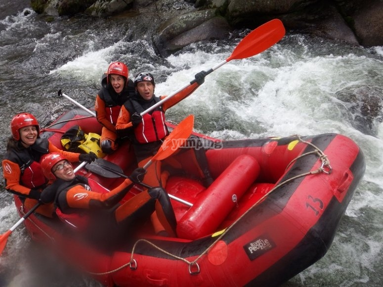 Rafting in the Alto Tormes
