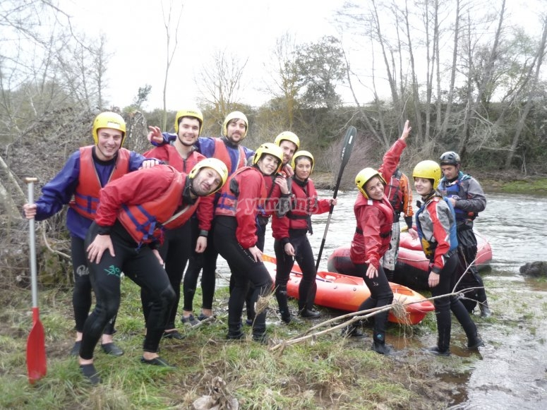 Rafting equipment in Gredos