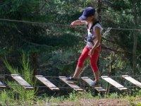 Pasando por el puente de tablas