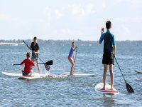 Paddle surfing class