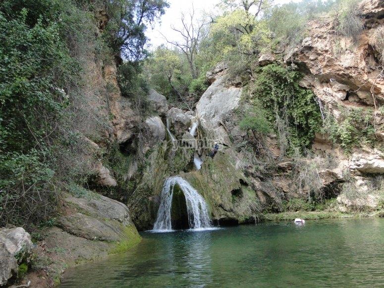 在Glorieta峡谷中跳跃