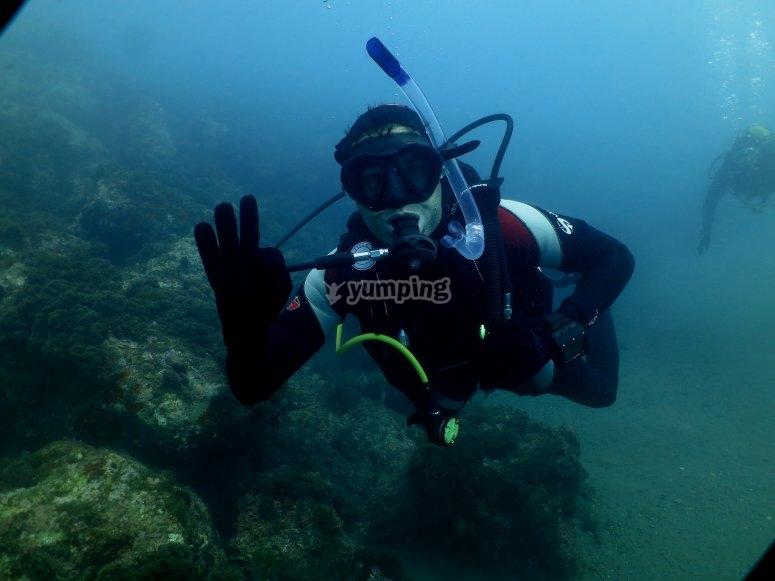 马拉加2人的潜水洗礼