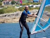 On the windsurf board