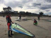 Preparing windsurfing