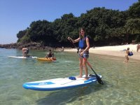 Riding in paddle surf