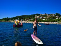 Sailing in paddle surf