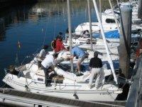 préparation du bateau