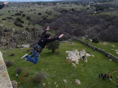 Bungee Jump + video & photos mountains of Madrid