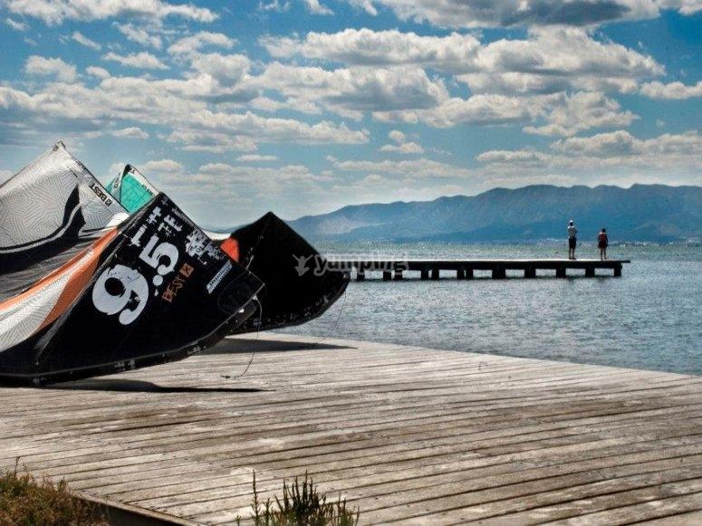 Kitesurfing course in Sant Carles