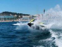 In Port Olimpic with the jet ski