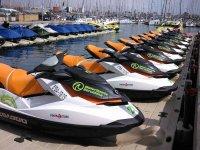 Fleet of jet skiing
