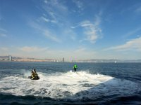Flyboard next to the jet ski