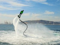 Inclining in the flyboard