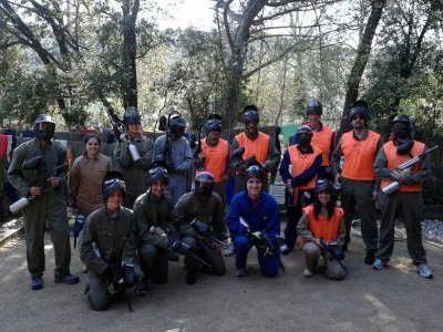 Paintball 200 bolas + humor amarillo + comida