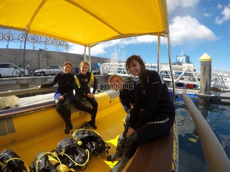 Two scuba diving sessions