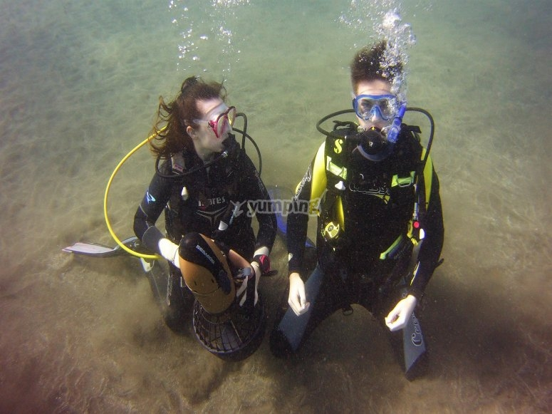 Couple of divers
