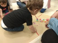 The little ones developing their creative skills