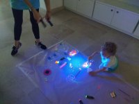 Working with sensory materials