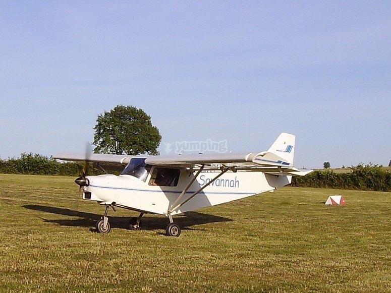 超轻型大草原的飞行