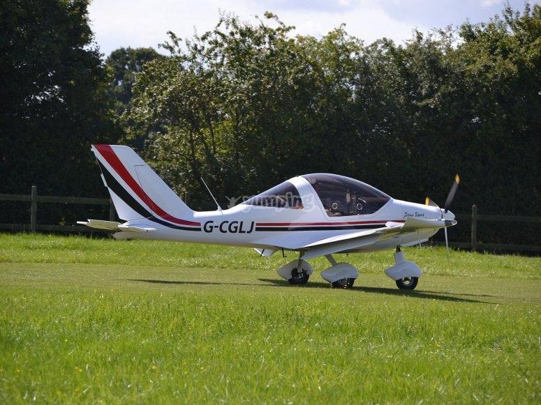 地面上的超轻型飞机