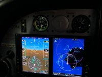 Cuadro de mandos de la aeronave