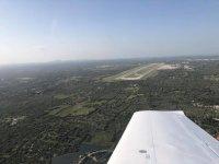 Vista desde el plano de la avioneta