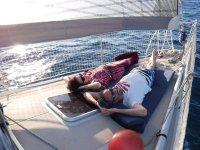 Descanso en el velero