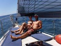 Día de recreo en el velero