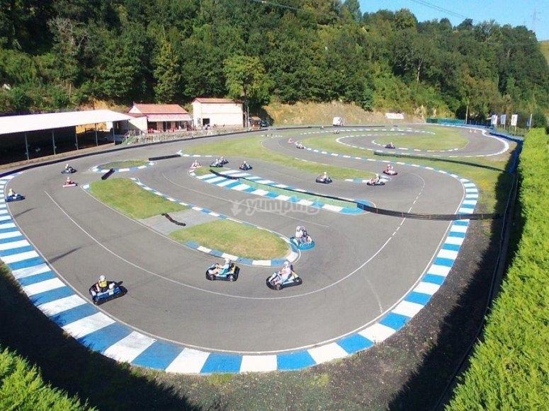 Panorámica del circuito de karting
