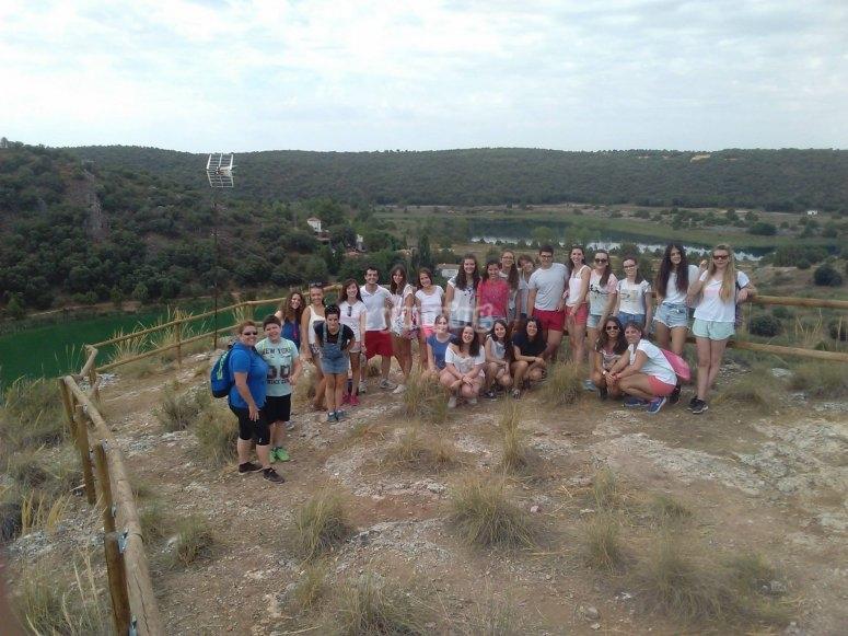集团参观了泻湖