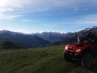 Vistas desde montaña en Huesca