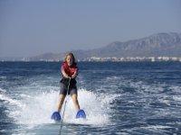 Doing Water Skiing