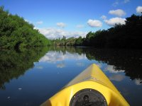 a bordo de la canoa