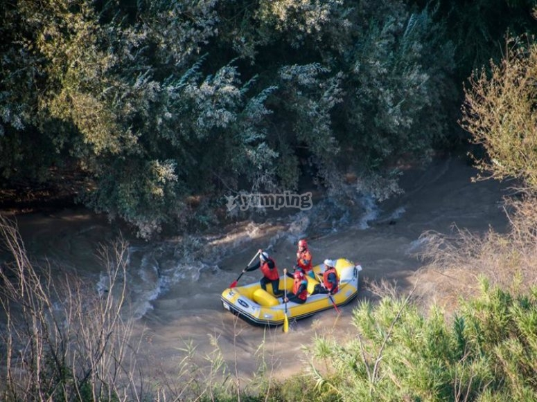 Pack con discesa rafting in Archidona