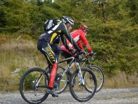 Cycling on dirt roads