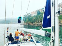 Journey day on sailboat
