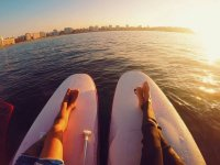Lying on sup boards