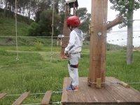 Treetop circuit + 3 Ziplines. Kid's Ticket