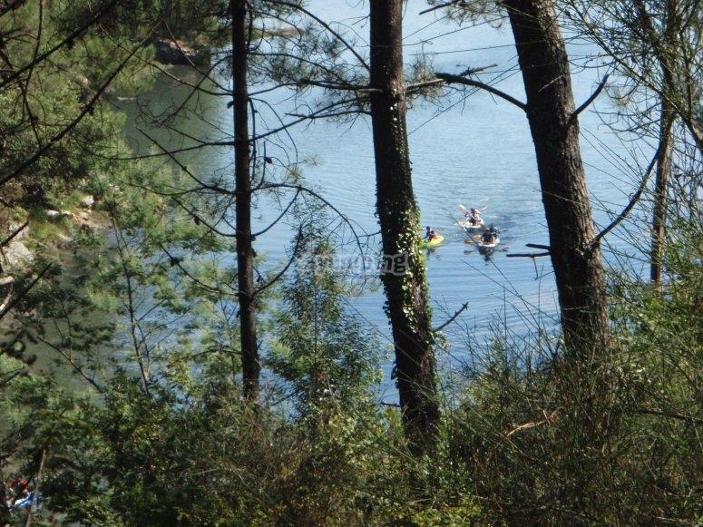 Kayak en familia río Ulla