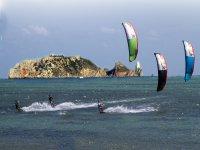 露肩风筝冲浪风筝玛岛