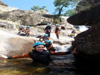 whole family in canyoning with JerteXtrem