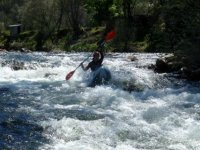 Descending the whitewater