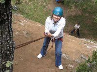 rappelling in the jerte valley