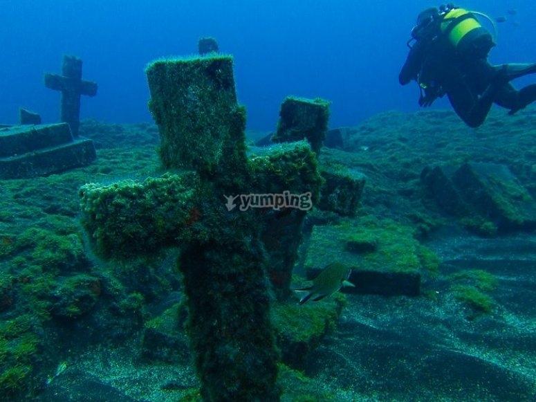 Bautismo de buceo en La Palma