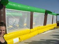 Campo de voleyball hinchable