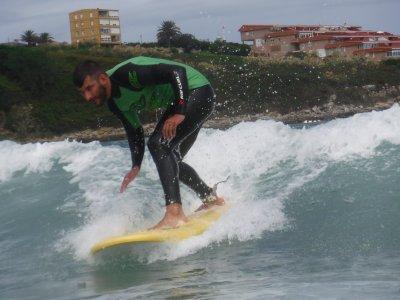 Clase de surf en Suances de 2 h 30 min