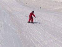 滑雪排练姿势