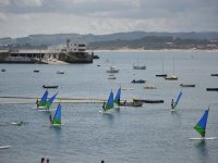 Windsurfers in the Cantabrian