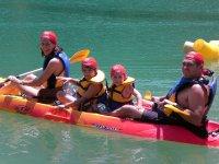 Kayak en familia en el embalse Conde de Guadalhorce (Pantano del Chorro)